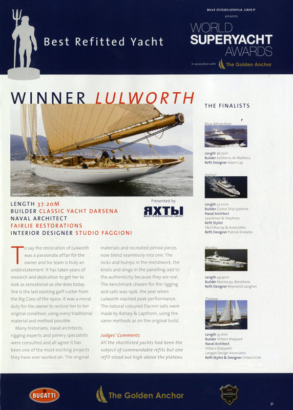 World Superyacht Awards 2007